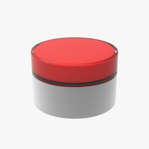 red push-button model
