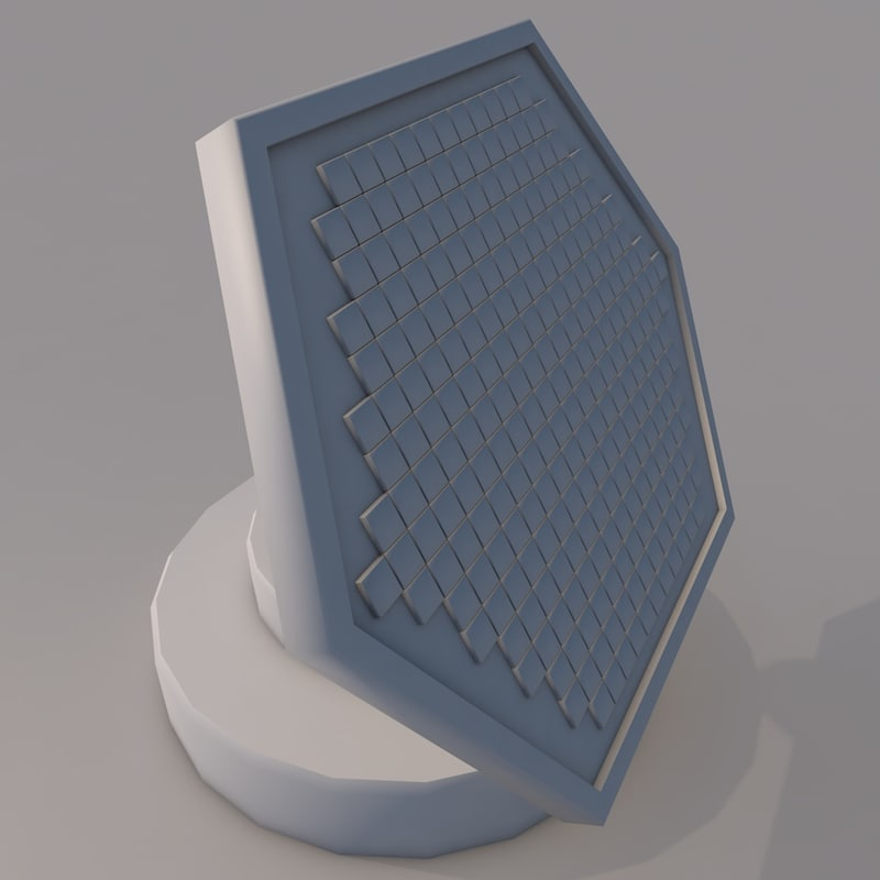 3D model spaceship antenna