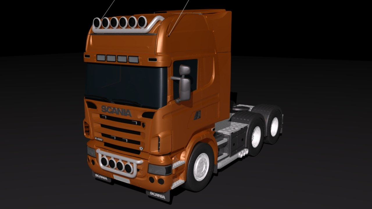 3D scania wagon model