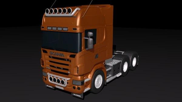 3D scania wagon model