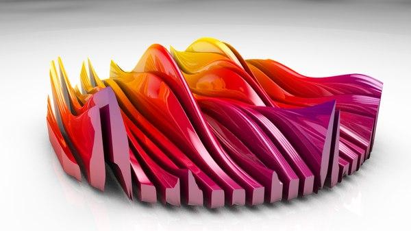 abstract onda 3D