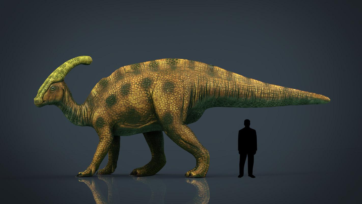 3D realistic tsintaosaurus model