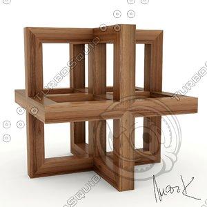 3D cube leonardo da
