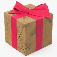 gift box paper 8 3D model