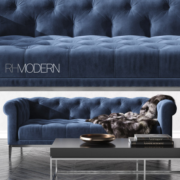 rh italia chesterfield sofa 3D model