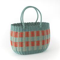 3D shopping basket model