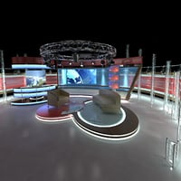 Virtual TV Studio Chat Set 1