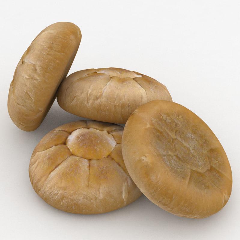 bread roll bun sun model