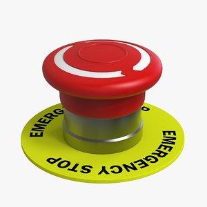 emergency button 3D
