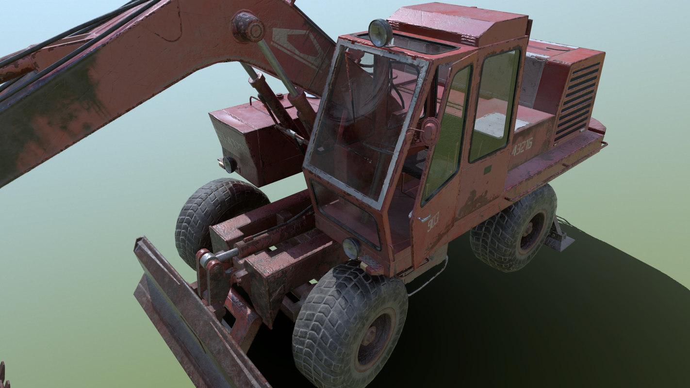 3D excavator eo-4321b model