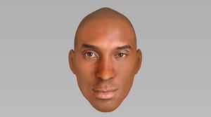 3D model head kobe bryant