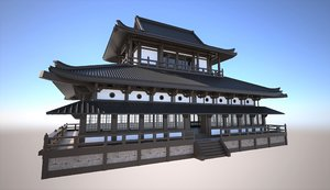 traditional japanese temple 3D model