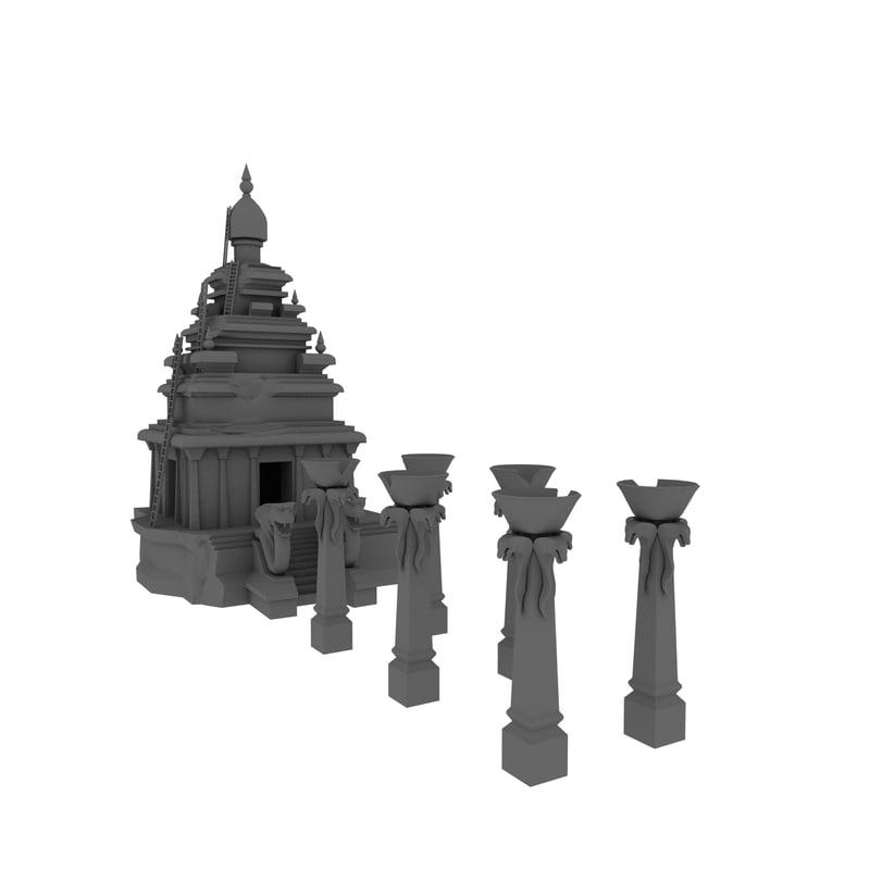 temple forbidden 3D model