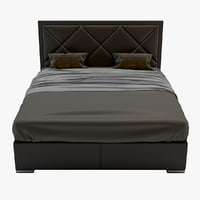 3D bed minotti model