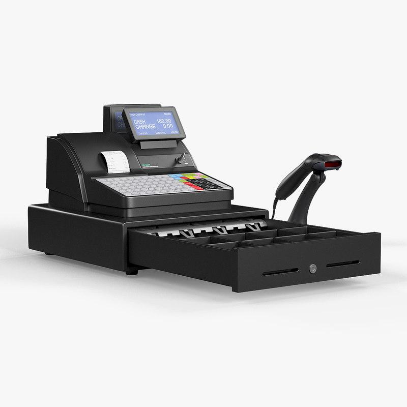 3D model cash register sam4s