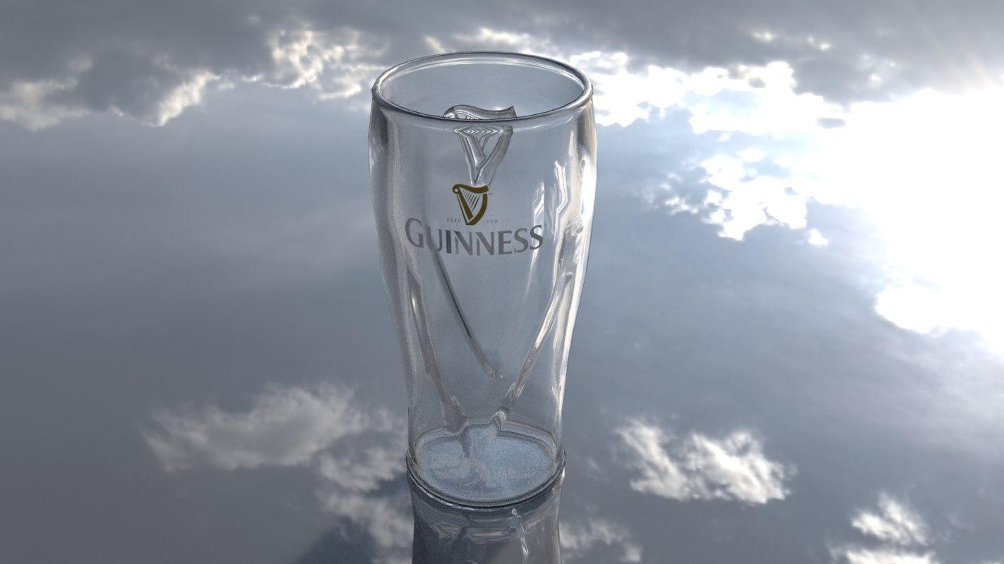 3D guinness beer glass model