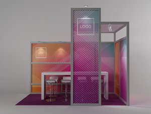 3D exhibition stand octanorm maxima model