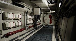 sci-fi corridor modular 3D