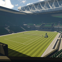 3D model wimbledon court