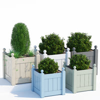 timber classic planter 3D model