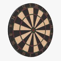 3D model dart dartboard board