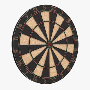 3D model dart dartboard board