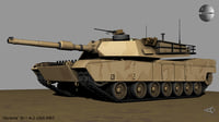 3D abrams battle tank