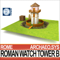 roman watch tower b 3D model