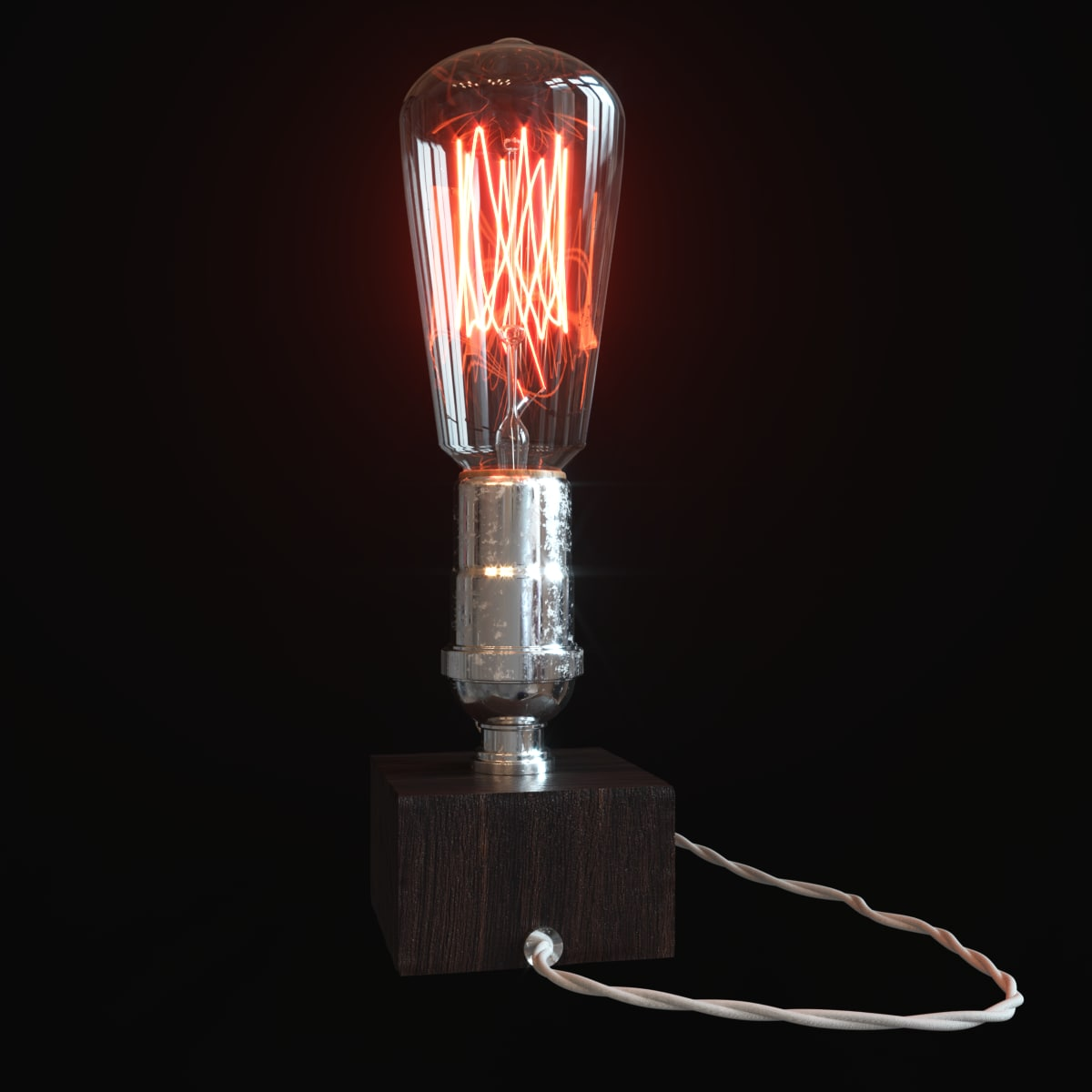 retro edison lamp 3D model