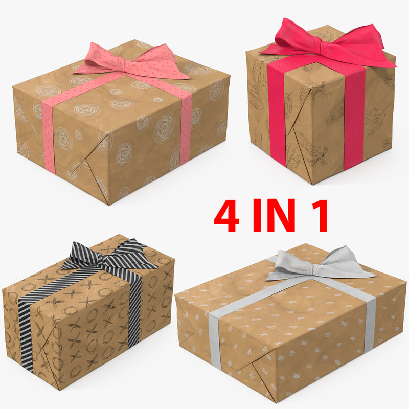 gift boxes 5 3D model