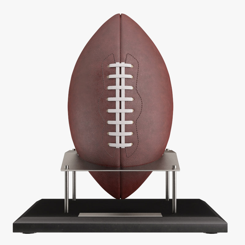 Football ball on stand