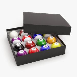 pool ball box 3D
