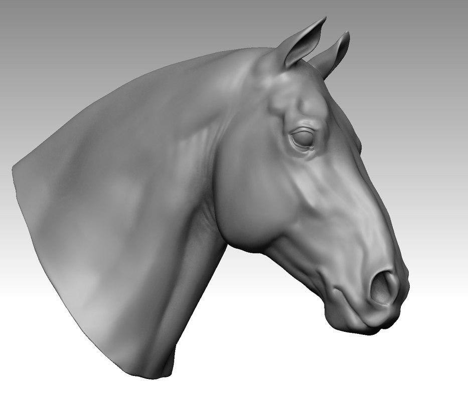 heavy horse head 3D model