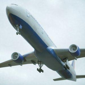 777-300 airliner 3D