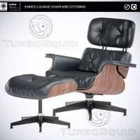 3D chair eames lounge
