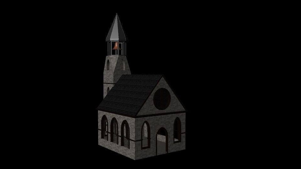 3D church asset