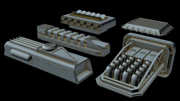 3D starship greeble 4