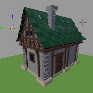 3D model medival house