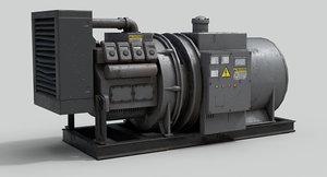 old industrial generator 3D model