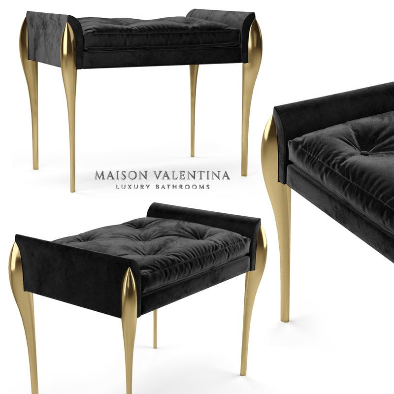 3D maison valentina stiletto bench