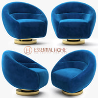 essential home mansfield armchair 3D
