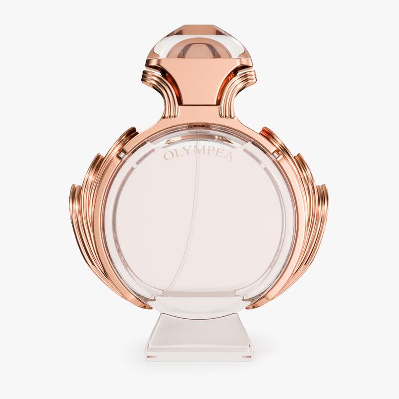 paco rabanne olympea perfume 3D model