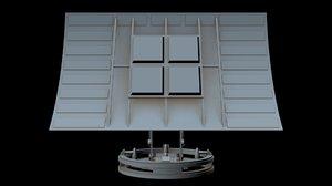 sci-fi radar 3 3D model