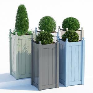3D pots timber tall classic