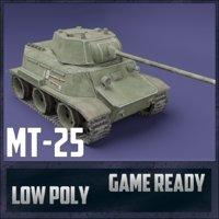 mt-25 tank ussr toon 3D