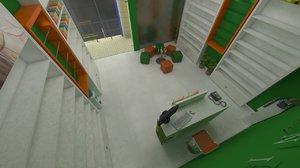 3D design commercial magasin
