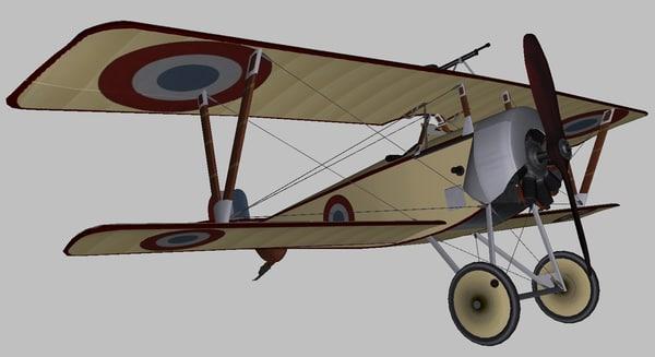 3D nieuport 11 model