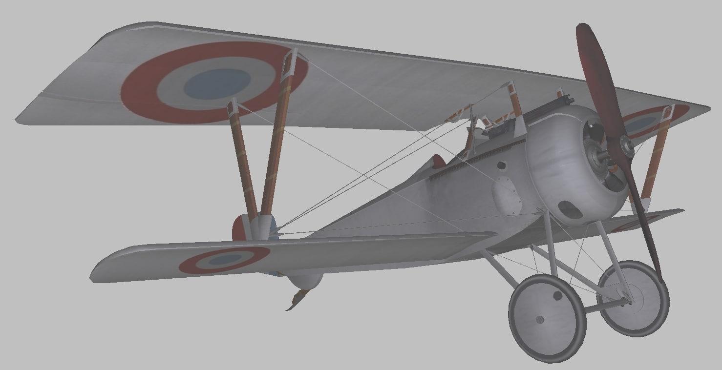 nieuport 17 1 3D model
