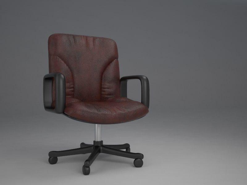 3D office chair leather model