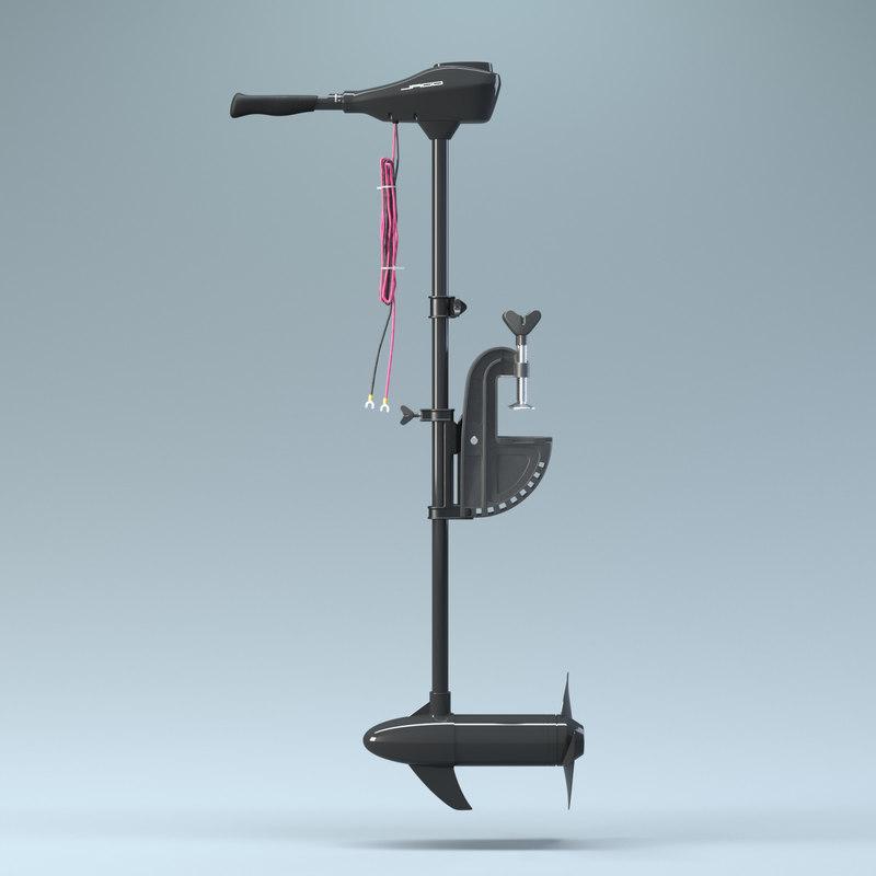 jago elektrobootmotor 86 lbs 3D model